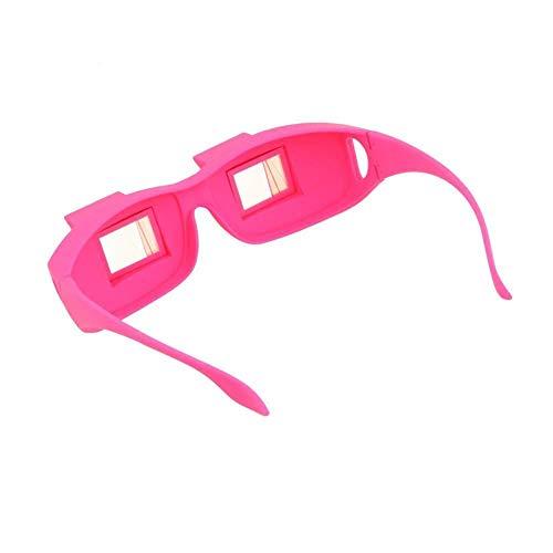 Fangfang GAO Lupe Moderne Funwill-Brillen-Prisma-Bett-Spezifikationen, die für das Lesen und Fernsehen im Bett Legen, während Flache Periskop-Brillen-Brillen liegen (Color : PINK)