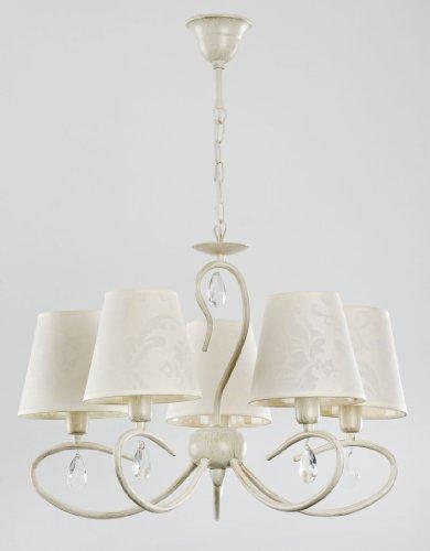 ALFA BALI White/Weiss 5 Deckenleuchte Deckenlampe Kronleuchter