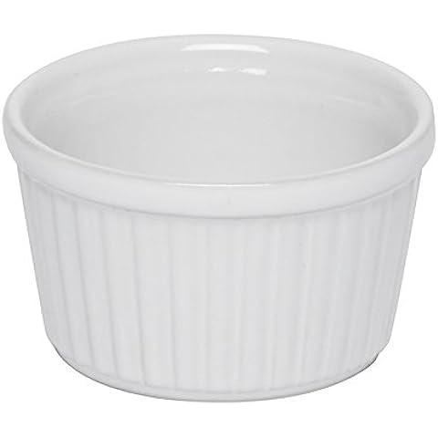 Excelsa Grande Forno Ramequin Monoporzione, Ceramica, Bianco, 9.0 cm