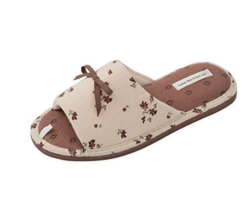 TWINS Fashion « Rimini » leichte Design Damen-Hausschuhe I Latschen I Schlappen I Pantoffeln I Slippers - 100% Baumwolle rutschfest - Diverse Farben, Rosa, 38/39 EU