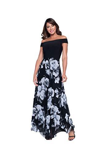Frank Lyman Lyman Black & Blue Woven Dress Style 198356 - Spring 2019