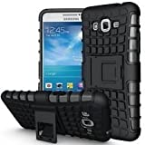 Dream2cool FOR Samsung Galaxy J3 Tough Hybrid Flip Kick Stand Spider Hard Dual Shock Proof Rugged Armor Bumper Back Case Cover For Samsung Galaxy J3 (BLACK)