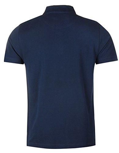Poloshirt für Herren, kurze Ärmel, unifarben Blau - Navy