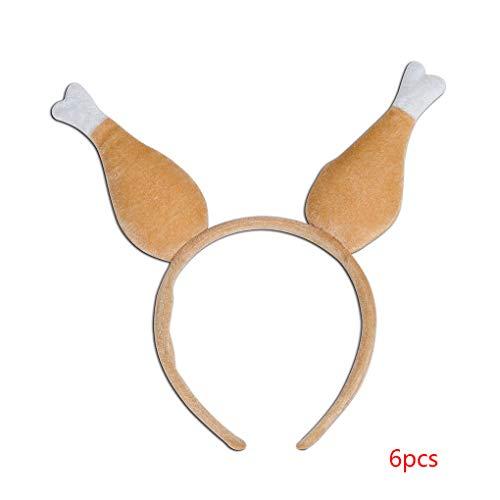lüsch Türkei Trommelstock-Form-Stirnband BBQ-Party Tanzparty Haarband Thanksgiving-Ferien Cosplay Kopfbedeckung #2 ()