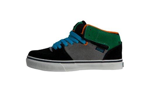 DVS Shoes Kids Torey DVF0000160, Jungen Sportschuhe - Skateboarding, Schwarz (BLACK GREY GREEN SUEDE 001), EU 38 (UK 5) (US 6)