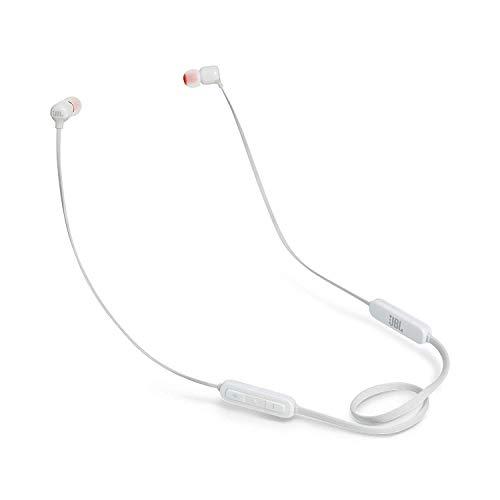JBL Tune110BT In-Ear Bluetooth-Kopfhörer in Weiß, Kabellose Ohrhörer mit integriertem Mikrofon, Musik Streaming bis zu 6 Stunden mit nur einer Akku-Ladung