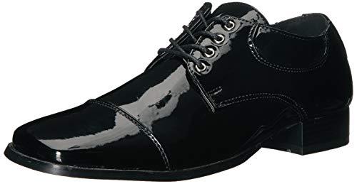 Ellie Jungen Herren Schuhe Schwarz Kleid Small schwarz - schwarz
