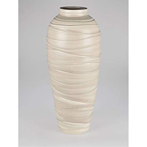 formano Deko Bodenvase Relief H. 82cm Creme aus Keramik