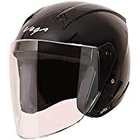 Vega Lark Open Face Helmet (Black, M)