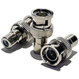 100pcs BNC Male To RCA Female Connector Adapter Coaxial CCTV