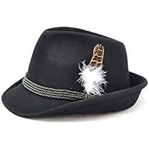 """Trachtenhut """"Maxl"""" schwarz mit Feder, Bayerischer Hut aus 100% Wollfilz"""