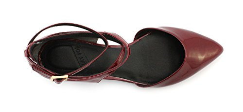 Scarpa WHAT FOR EDITH PATENT LEATHER WINE OPEN SHANK Bordeaux