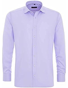 Eterna Herrenhemd Herren Baumwoll Hemd Baumwollhemd Business Freizeit Langarm Modern Fit Flieder