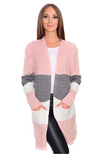 OxydCollection Damen Cardigan Strickjacke Mantel Pullover Longshirt Winter Jacke Gr. S M, 0083...