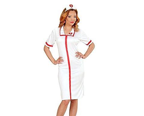 WIDMANN muxmsc-00041–Adultes Costume d'Infirmière Sexy, robe et häubchen Blanc