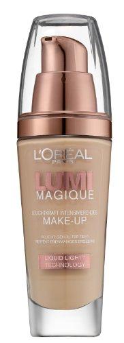L\'Oréal Paris Make-Up Lumi Magique Fond de Teint, N3 Pure Linen - optimale, natürliche Deckkraft mit bis zu 12h Halt - für einen tollen Glow, 1er Pack (1 x 30 ml)