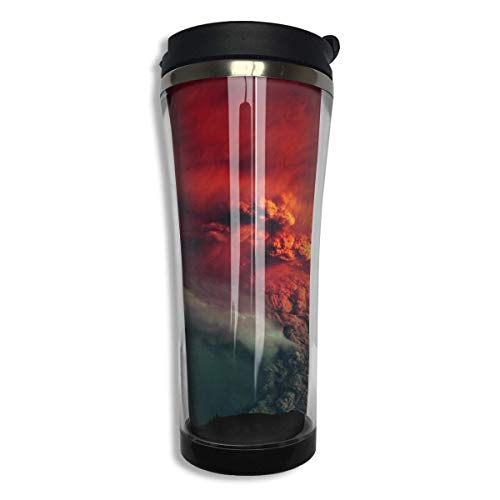 FGRYGF Burning Cloud Women Male Stainless Steel Food Grade ABS Travel Mugs Coffee Insulated Thermal Travel Mug Tumbler Large Capacity