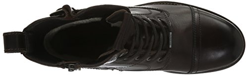 Pepe Jeans London Herren Melting Buckle Combat Boots Braun (Dark Brown 898)