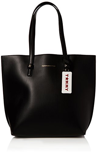 Tommy Hilfiger Damen Th Effortless Tote Lrg, Schwarz (Black), 15x34x31 cm (Fashion Bag Tote Black)