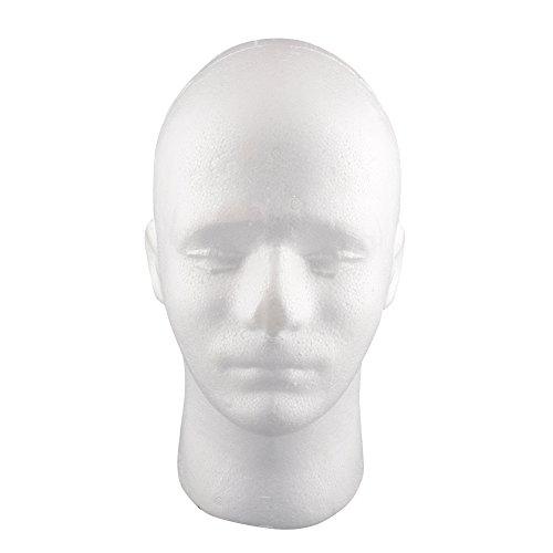 Kicode Modellanzeige Styropor-Mannequinkopf Perücke Hüte Halter (männlich)