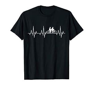 Tandem Fahrrad Herzschlag EKG Radsport Radfahrer Fun T-Shirt