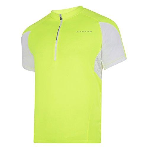 Dare 2B Herren Commove Fahrrad-Top, kurzärmlig (Small) (Neongelb) (Personalisierte Trainingshose)