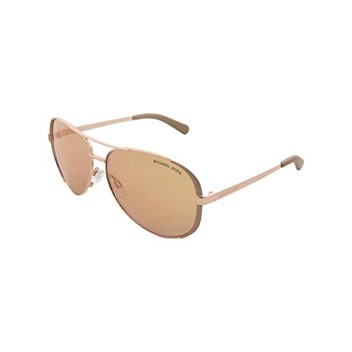 Michael Kors Chelsea-Aviator Sonnenbrille in Roségold Taupe MK5004 1017R1 59 59 Rose Gold Flash Mirror