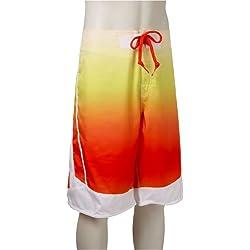 Nike Gradient Beach - Bañador de playa para hombre, Hombre, Blanco y Narnja (White/ Orange) , 36 W