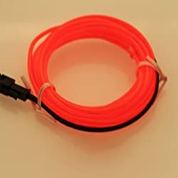 Hatori Flexible Neon Cold Car Vehicle Light Glow Strip Rope EL Wire with 12V Inverter