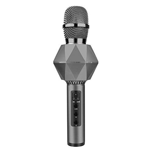 Dandeliondeme Tragbares Handheld Wireless Bluetooth Mikrofon Karaoke Wireless Bluetooth Smart Mikrofon Singing Audio Gerät Player Lautsprecher für Telefon Home KTV Outdoor Party dunkelgrau
