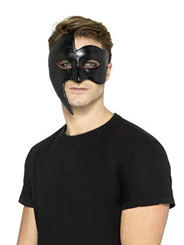 Smiffys SMIFFY 'S 48166Masquerade Gothic Phantom Maske, Schwarz, Eine Größe