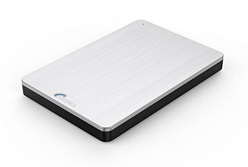 Sonnics 1TB argento hard disk esterno portatile USB 3.0 Super velocità di trasferimento per uso con Windows PC, Apple Mac, Xbox One e PS4