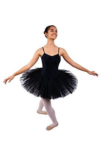Ballett Tutu, 5 lagig (Plateau) , Schwarz, (Ballett Schwarzes Tutu)