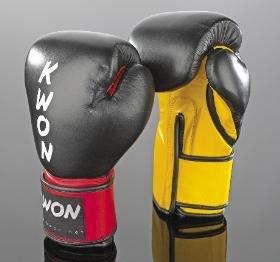 KWON Boxhandschuh / KO Champ - schwarz-rot | 10oz