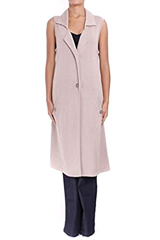 ANTA Q'ULQI - Pima cotton Knit Sleeveless Long Jacket LUJO - beige, M