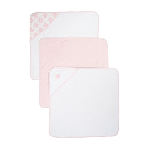 Mothercare Hooded Towels (Cuddle 'N' Dry, Pink, Pack of 3)