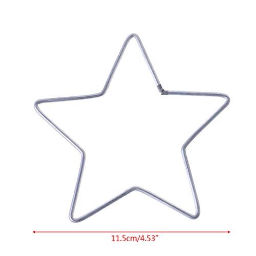 Kimruida - Anillo de Metal para atrapasueños, diseño de Estrella, 2