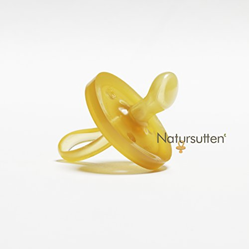 Natursutten Original Schnuller | 100% Naturkautschuk | Sauger | kiefergerechte Form | EINFACH ZU SÄUBERN | Klein | 0-6 Monate