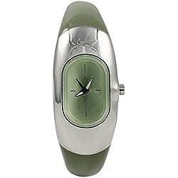 Nike WR0102043 - Reloj con correa de acero para niños, color verde/gris