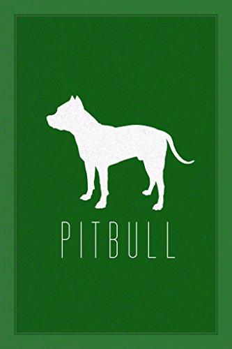 College-wohnheim-poster (Hunde Pit Bull grün Poster 30x 46cm)