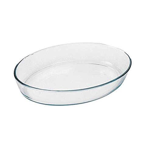 Marinex 3.2Lt Oval Glass Microwave Oven Baking Roasting Dish Roaster Safe Up To 300C