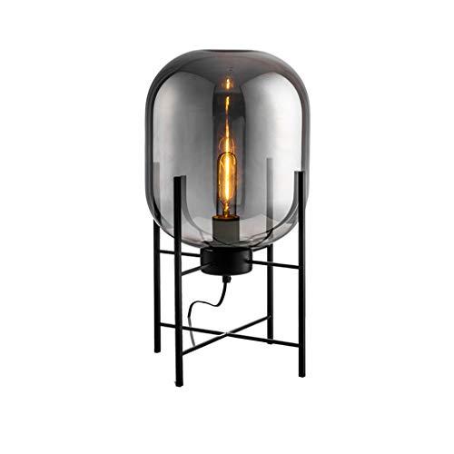 Moderne minimalistische nordische Stehlampe tischleuchte schreibtischlampe wohnzimmer lesung schwarz weiß lampenschirm stehlampe e27 lampe (Color : A-45 * 26cm)