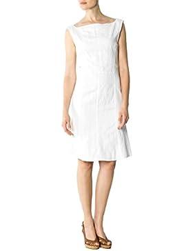 CINQUE Damen Kleid Cilban Leinen Dress Unifarben, Größe: 40, Farbe: Weiß