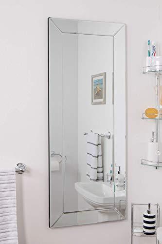 MirrorOutlet Espejo tocador/salón Color Negro Brillante
