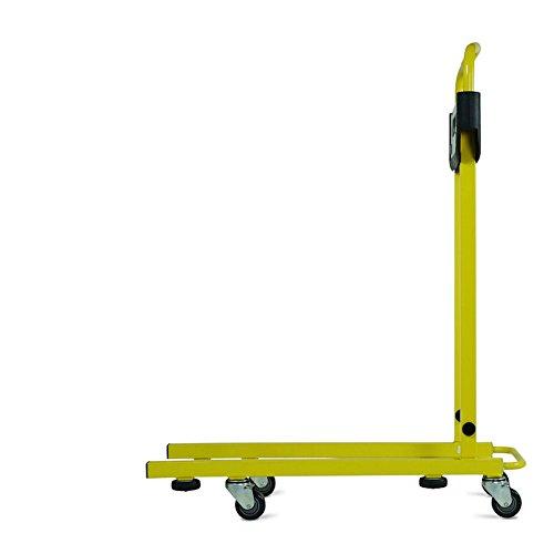 Hubwagen von Pallea – in Leichtbauweise und einfach zu handhabender Handwagen für Materialtransporte auf engem Raum mit 360° Drehbarkeit, zusammenklappbar und zusammenbaubar für die handliche Lagerung (800mm)