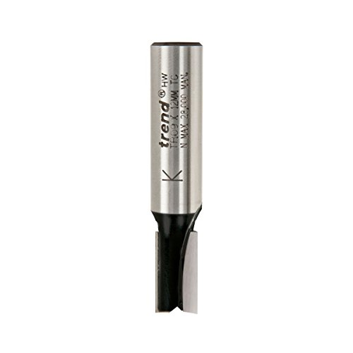 Trend 2-Flute Straight Cutter 1/2 Shank 10 x 19mm
