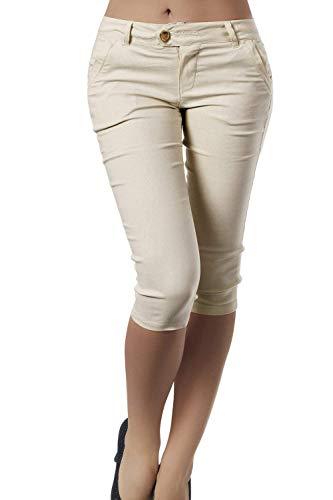 ef81be382a Lannister Capri Pantaloni Donna Pantaloni Estivi Eleganti Nahen Taille Slim  Pants Monocromo Fashion Tempo Libero ...