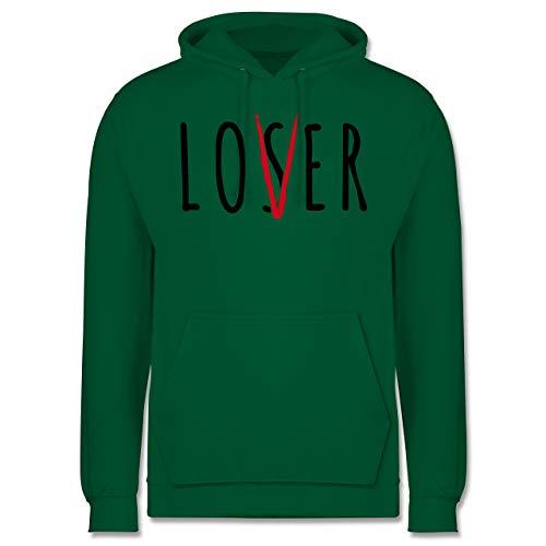 (Shirtracer Halloween - Loser Lover Club - 3XL - Grün - JH001 - Herren Hoodie)
