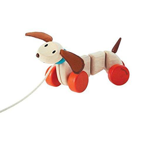 PlanToys - Cachorro feliz, juguete para arrastrar (5101)