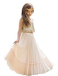 b756394fc99d VIPbridal Abito di sfera di compleanno del vestito dalla ragazza del fiore  della gonna del pannello